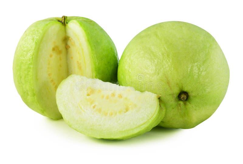 Fruta de guayaba en el fondo blanco foto de archivo