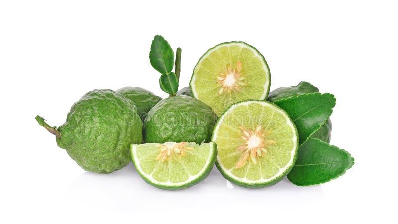 Fruta de la bergamota en el fondo blanco foto de archivo