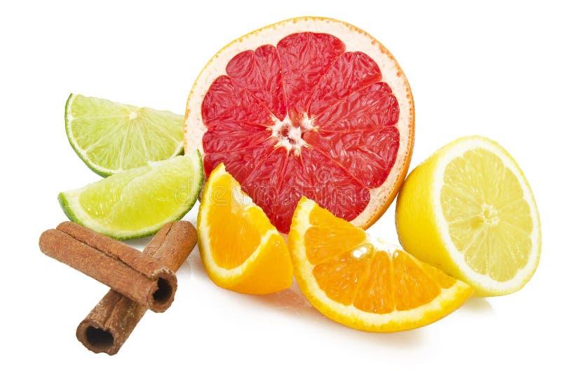 Fruta de la mezcla cortada foto de archivo