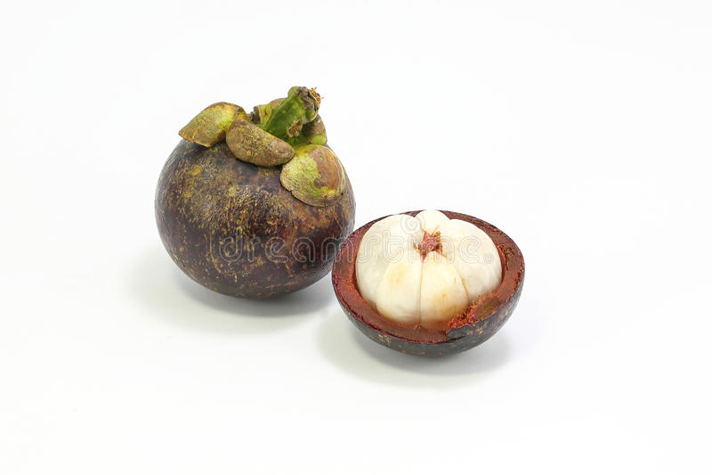 Fruta de la púrpura de Mangostieen imagen de archivo libre de regalías
