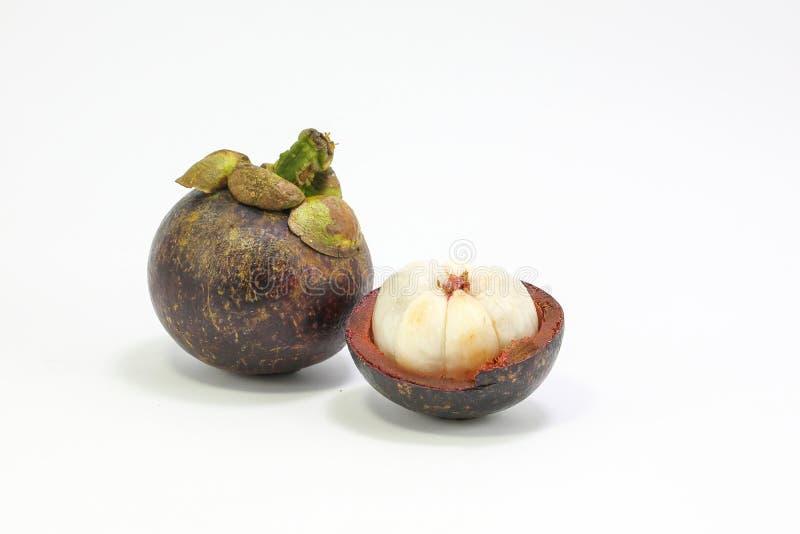 Fruta de la púrpura de Mangostieen fotos de archivo