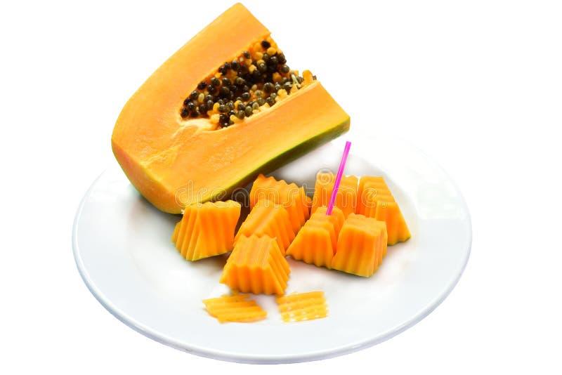 Fruta de la papaya fotos de archivo
