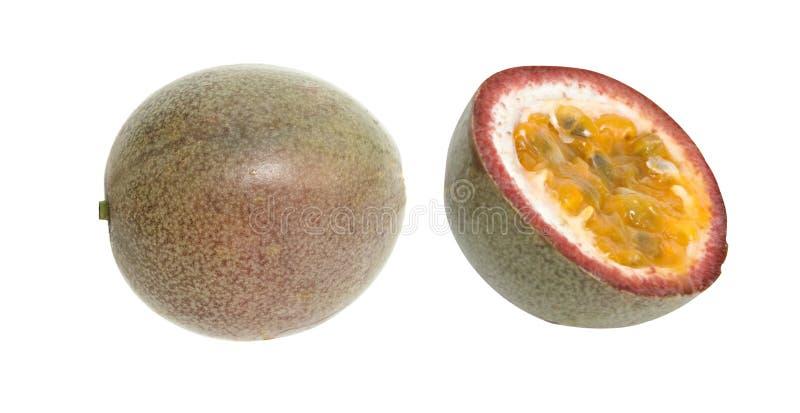 Fruta de la pasionaria y su sección fotografía de archivo
