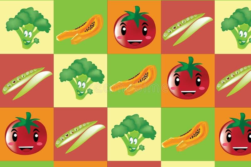 Fruta de las verduras pettern ilustración del vector