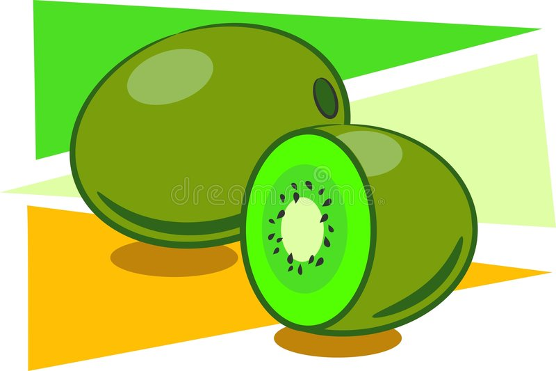 Fruta de quivi ilustração stock
