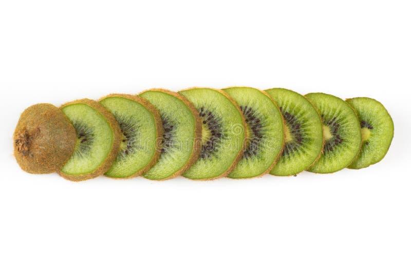 Fruta de quivi cortada imagem de stock royalty free