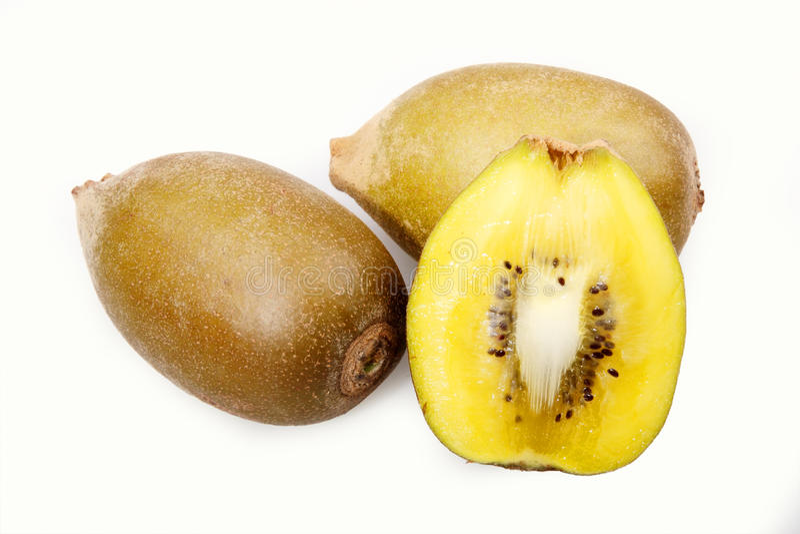 Fruta de quivi dourada fresca foto de stock royalty free
