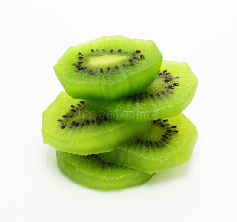 Fruta de quivi fresca das partes fotografia de stock royalty free