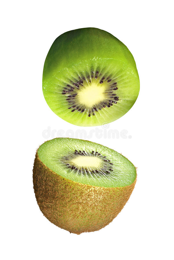 Fruta de quivi isolada imagem de stock