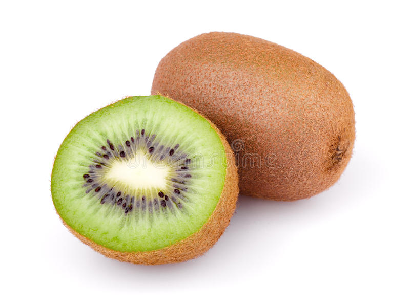 Fruta de quivi isolada no fundo branco foto de stock royalty free