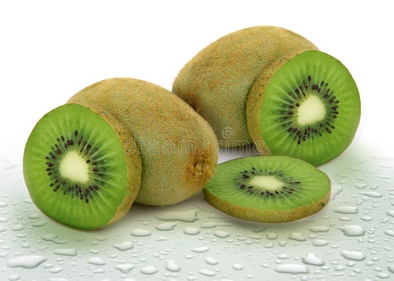Fruta de quivi tropical verde fresca fotografia de stock
