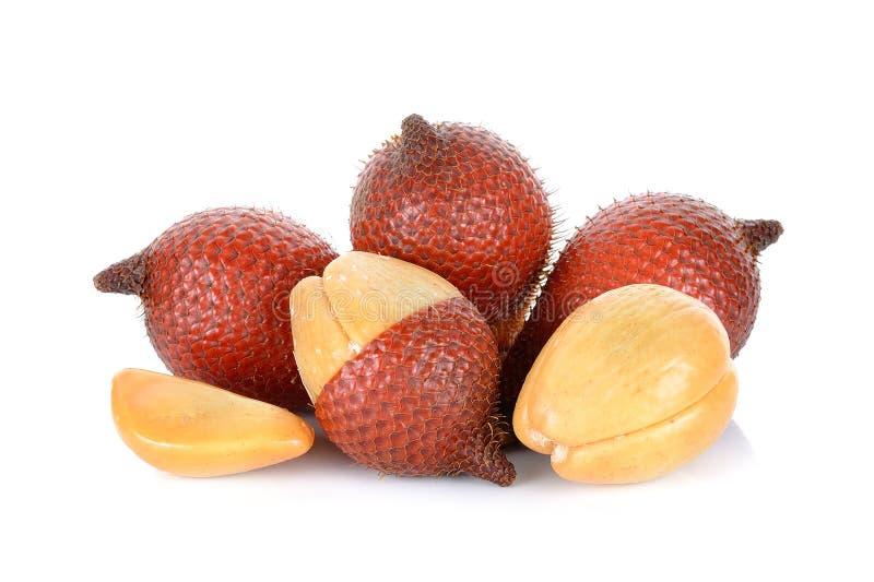Fruta de Salak, zalacca de Salacca en el fondo blanco imagen de archivo libre de regalías