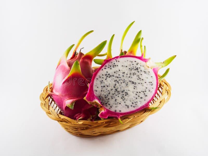 Fruta del dragón del fondo blanco foto de archivo