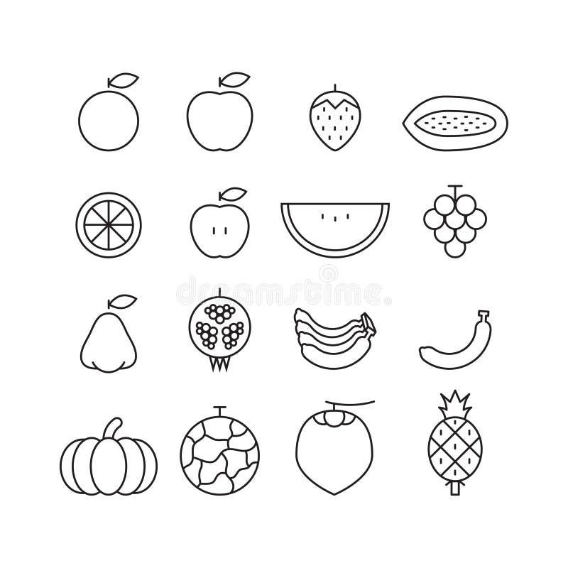 Fruta del icono, vector libre illustration