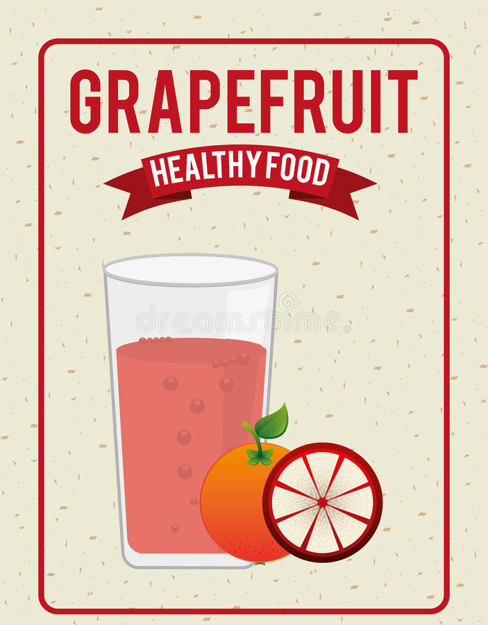 Fruta del jugo stock de ilustración