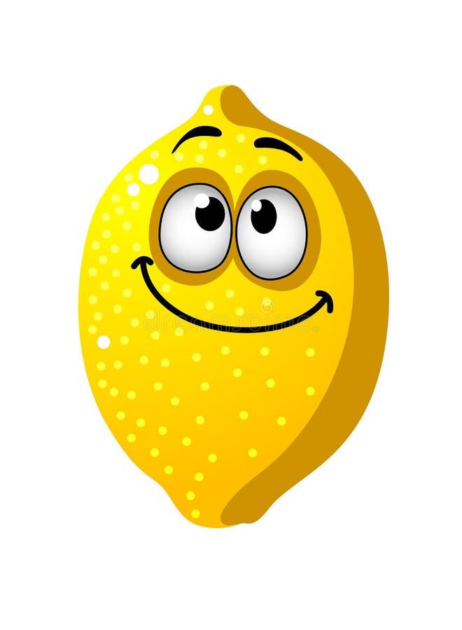 Fruta del limón de la historieta de la diversión ilustración del vector
