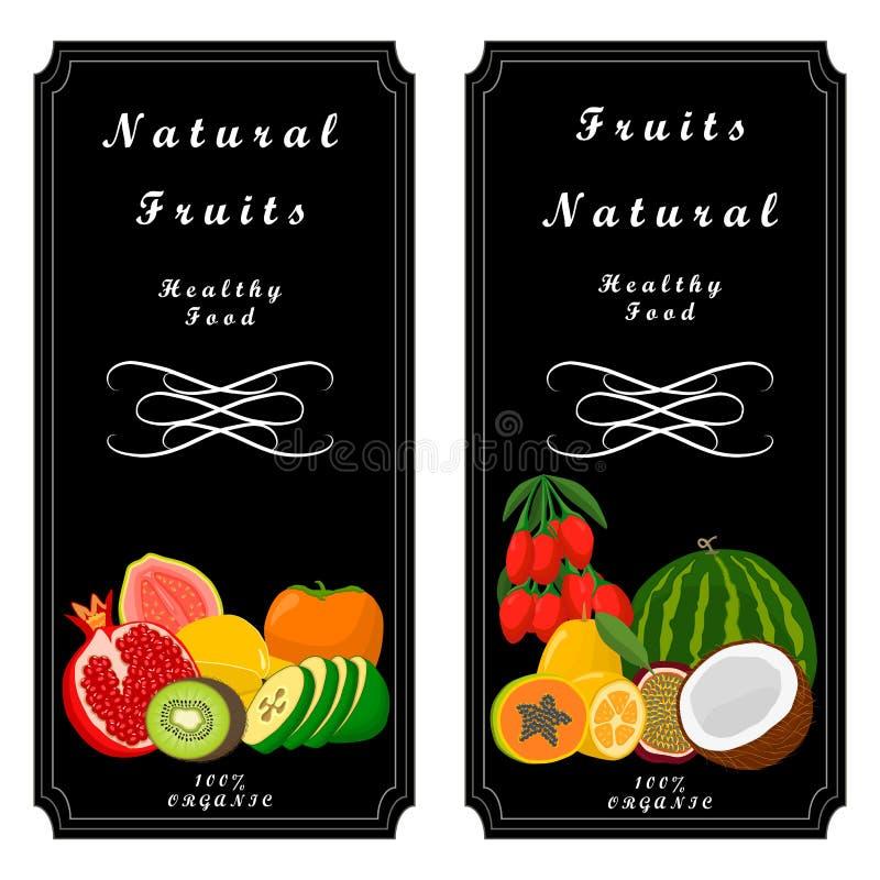 Fruta del logotipo ilustración del vector