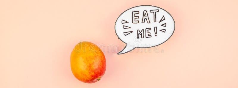 Fruta del mango en concepto creativo del estilo del arte pop foto de archivo libre de regalías