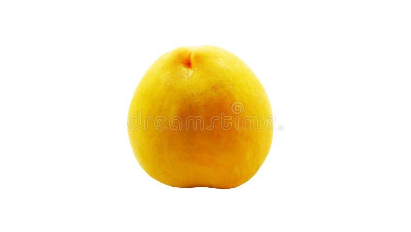 fruta del melocotón en el fondo blanco imágenes de archivo libres de regalías