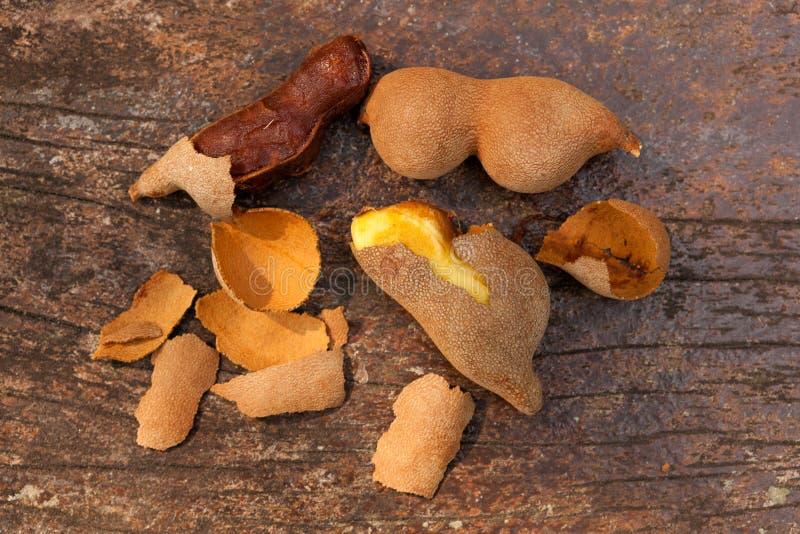 Fruta del tamarindo desde arriba foto de archivo libre de regalías