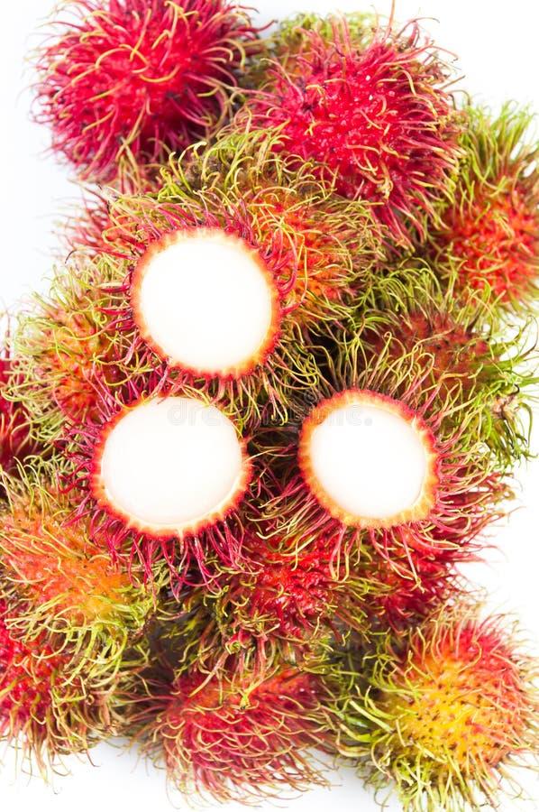 Download Fruta Do Rambutan E Fundo Branco Imagem de Stock - Imagem de pele, saudável: 26504565