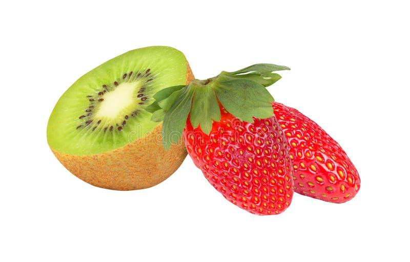 Fruta e morango de quivi imagens de stock royalty free