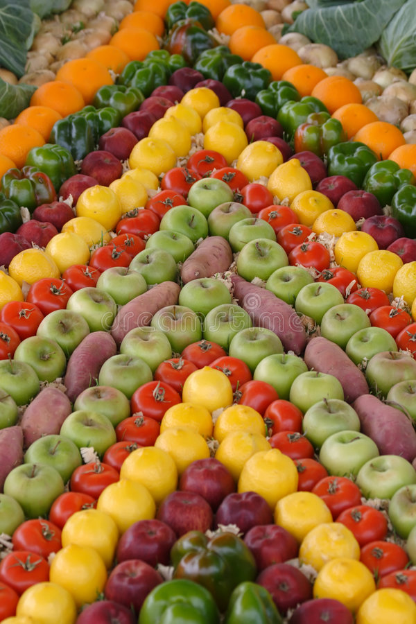 Fruta e veg foto de stock