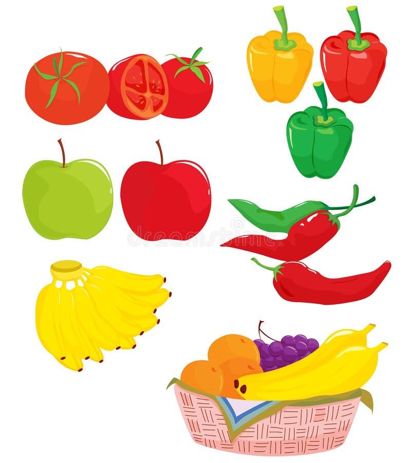 Fruta e verdura ilustração do vetor