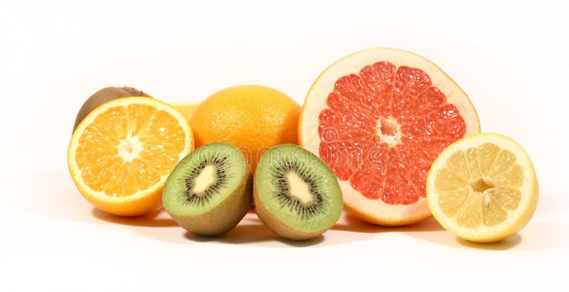 Fruta em um fundo branco foto de stock