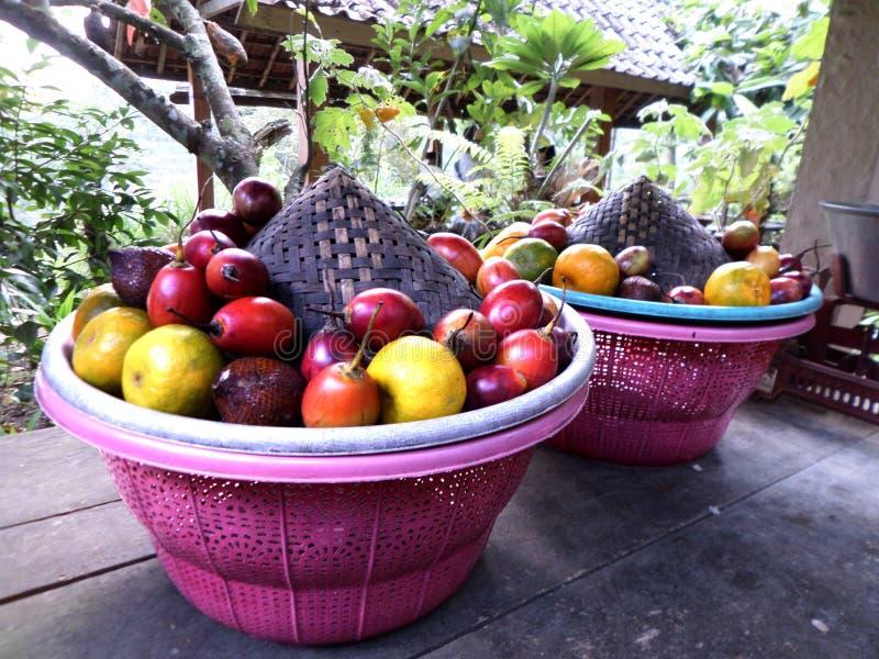 Fruta en la cesta imagen de archivo