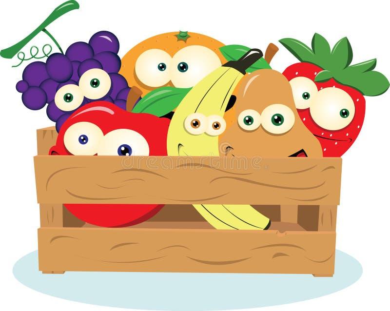 Fruta engraçada em uma caixa ilustração do vetor