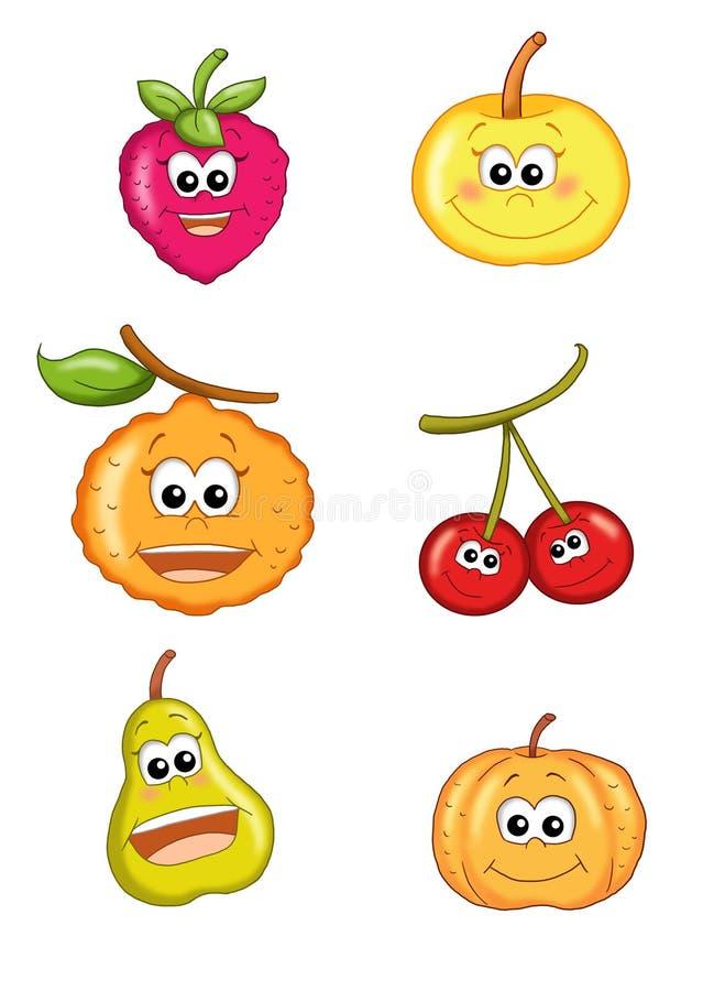 Fruta feliz 1 ilustração stock