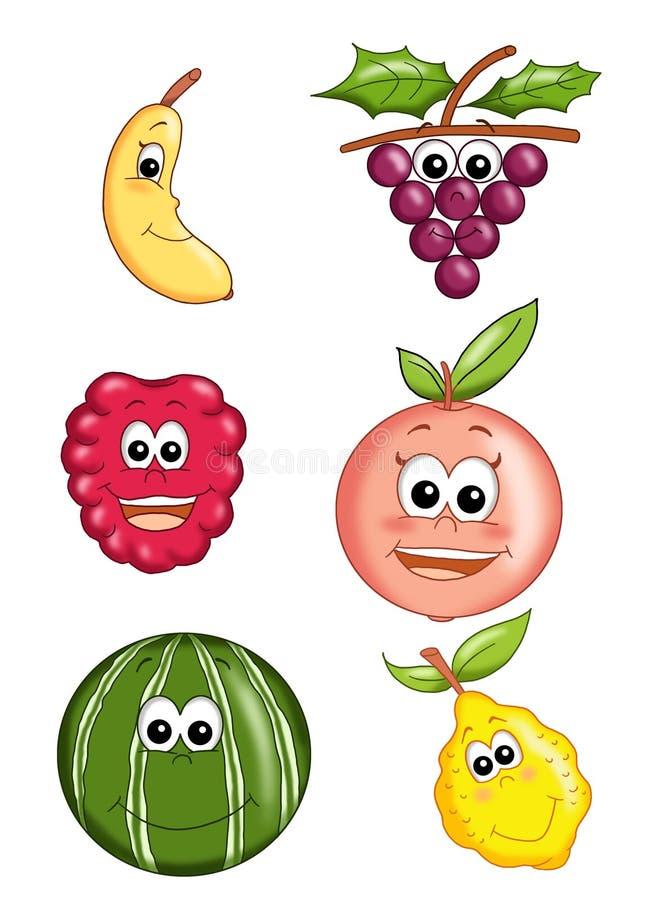 Fruta feliz 2 ilustração royalty free