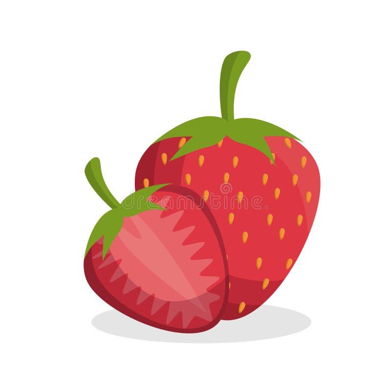 fruta fresca de la fresa deliciosa libre illustration