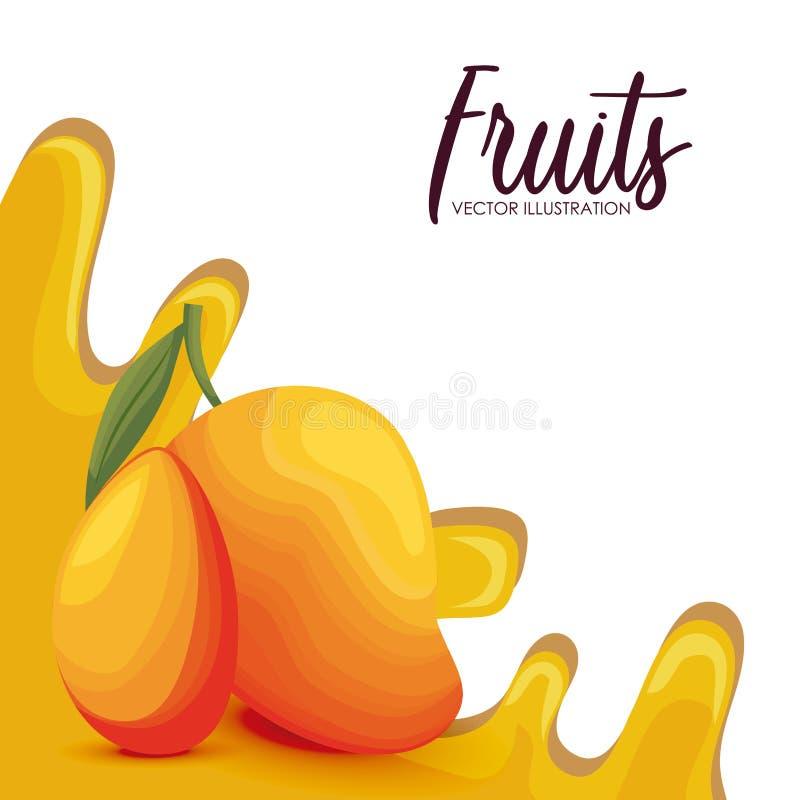 Fruta fresca del mango sana libre illustration