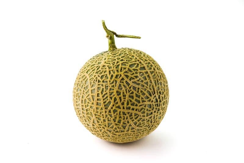 Fruta fresca del melón anaranjado orgánico del cantalupo aislada fotos de archivo