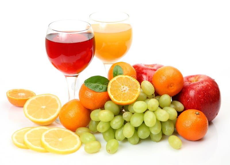 Fruta fresca e suco fotos de stock royalty free
