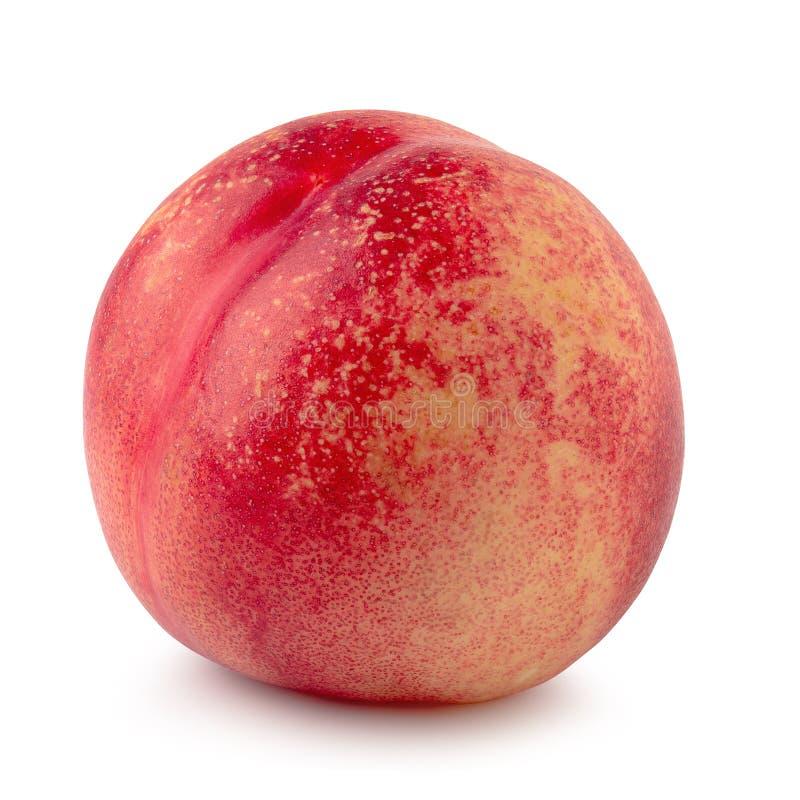 fruta fresca madura de la nectarina aislada en el fondo blanco imagen de archivo