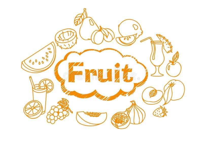 Fruta jugosa madura stock de ilustración