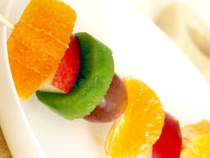 Fruta Kebab fotografia de stock