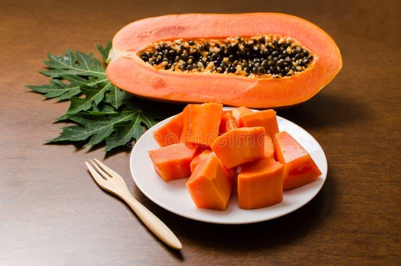 Fruta madura da papaia imagens de stock