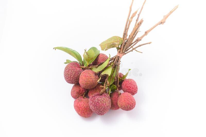Fruta madura del lichi (lichí chinensis) fotografía de archivo libre de regalías