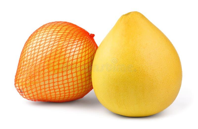 Fruta madura del pomelo dos fotos de archivo libres de regalías