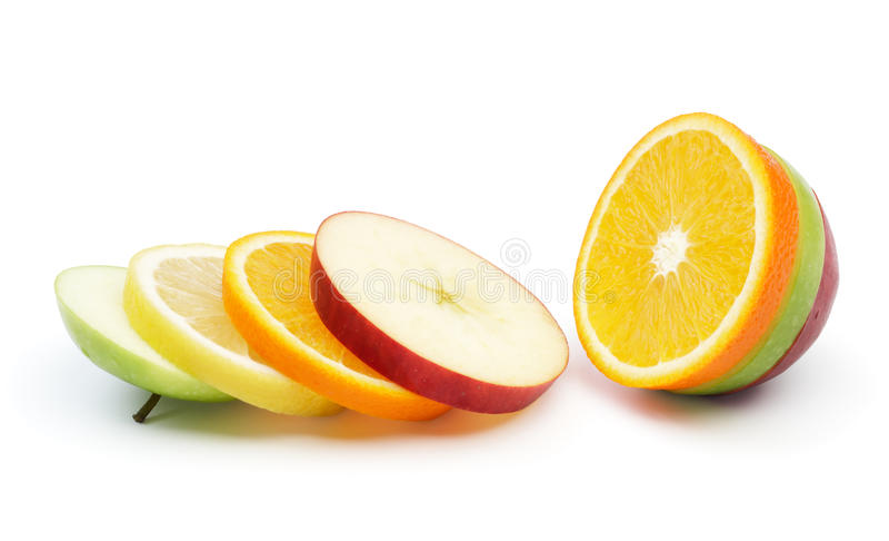 Fruta misturada fotografia de stock