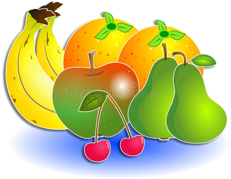 Fruta misturada ilustração stock