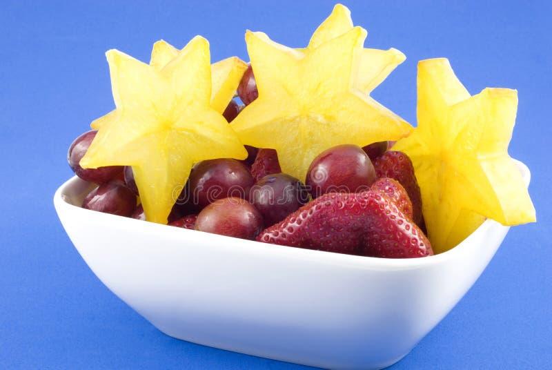 Fruta misturada com Starfruit foto de stock royalty free