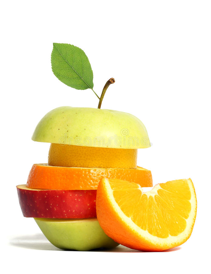 Fruta misturada fresca fotos de stock