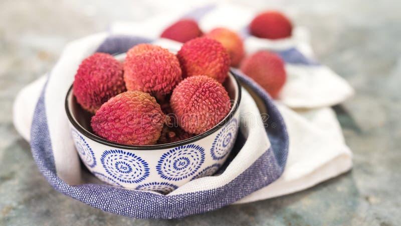 Fruta orgánica fresca del lichi fotografía de archivo libre de regalías