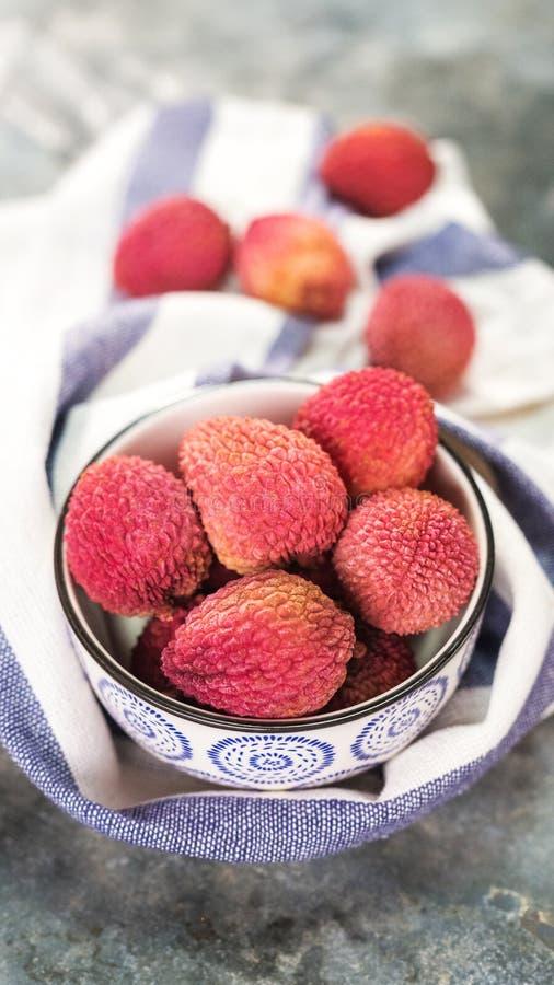 Fruta orgánica fresca del lichi imagen de archivo