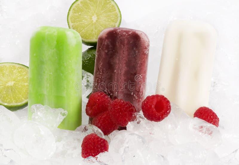 Fruta Popcicles imagem de stock